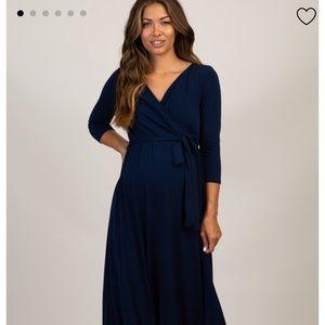 Pink Blush Maternity maxi dress, size medium